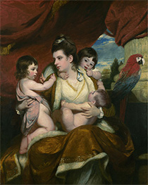 Lady Cockburn and her Three Eldest Sons, 1773 by Reynolds | Painting Reproduction