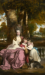 Lady Elizabeth Delme and Her Children, c.1777/79 von Reynolds | Gemälde-Reproduktion
