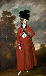 Portrait of Lady Worsley | Reynolds | Painting Reproduction