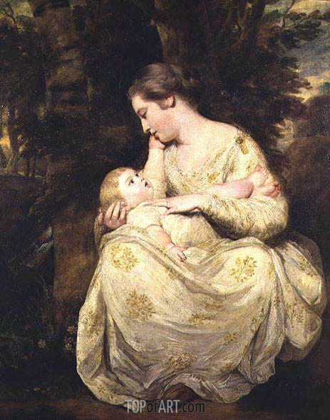 Mrs Susanna Hoare and Child, c.1763/64 | Reynolds | Gemälde Reproduktion