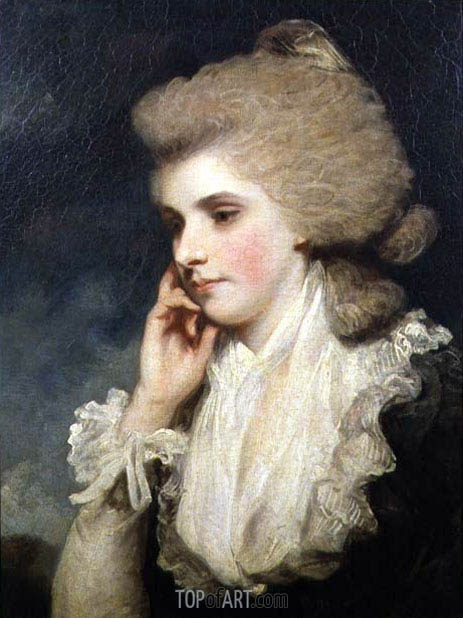 Frances Countess of Lincoln, c.1781/8 | Reynolds | Painting Reproduction