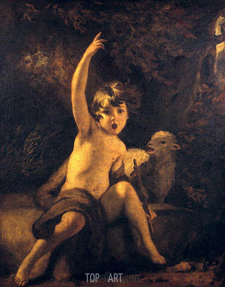 St John the Baptist in the Wilderness, c.1776 | Reynolds | Gemälde Reproduktion
