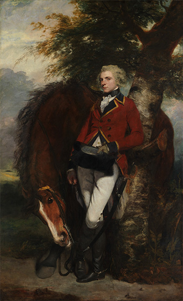 Captain George K. H. Coussmaker, 1782 | Reynolds | Painting Reproduction