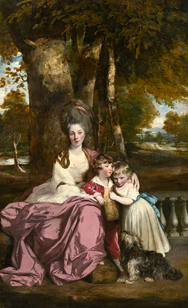 Lady Elizabeth Delme and Her Children, c.1777/79 | Reynolds | Painting Reproduction