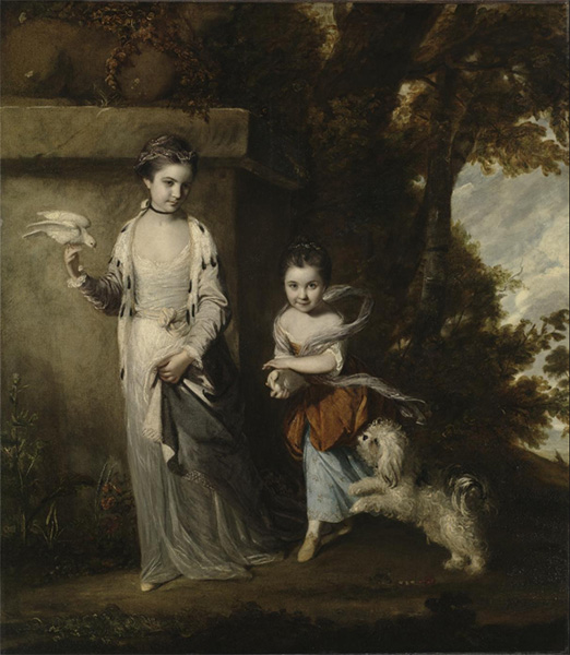 Portrait of the Ladies Amabel and Mary Jemima Yorke, c.1761 | Reynolds | Painting Reproduction