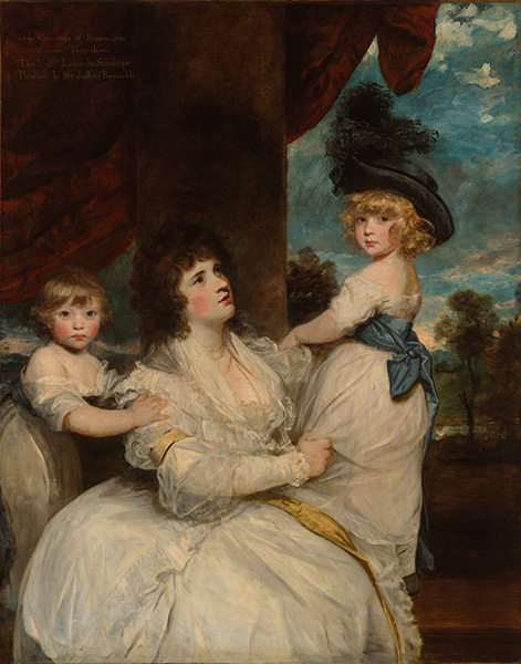 Jane Stanhope, Countess of Harrington, c.1786/87 | Reynolds | Painting Reproduction