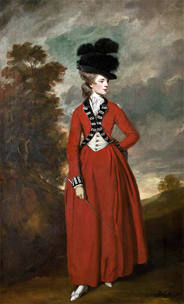 Portrait of Lady Worsley, 1776 | Reynolds | Painting Reproduction