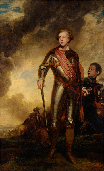 Charles Stanhope, third Earl of Harrington, and a Servant, 1782 | Reynolds | Painting Reproduction