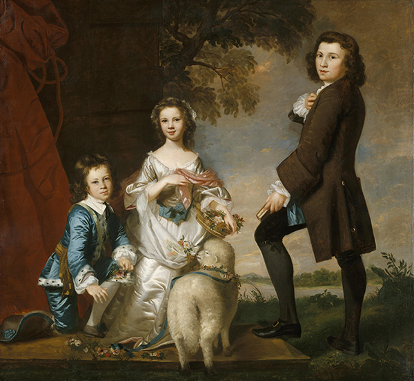Thomas and Martha Neate with His Tutor, Thomas Needham, 1748 | Reynolds | Painting Reproduction