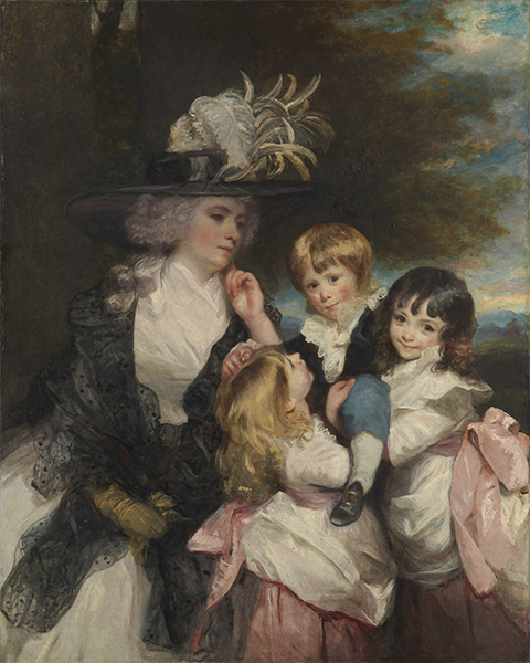 Lady Smith and Her Children, 1787 | Reynolds | Painting Reproduction