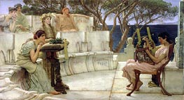 Sappho and Alcaeus, 1881 by Alma-Tadema | Painting Reproduction
