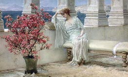 Her Eyes are with Her Thoughts and They are Far Away, 1897 by Alma-Tadema | Painting Reproduction