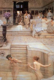 A Favourite Custom, 1909 by Alma-Tadema | Painting Reproduction
