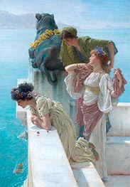 A Coign of Vantage, 1895 by Alma-Tadema | Painting Reproduction