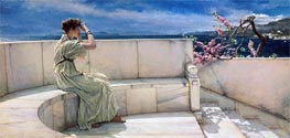 Expectations, 1885 by Alma-Tadema | Painting Reproduction