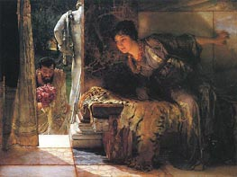 Welcome Footsteps, 1883 by Alma-Tadema | Painting Reproduction