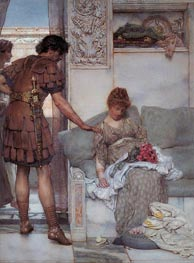A Silent Greeting, 1889 by Alma-Tadema | Painting Reproduction