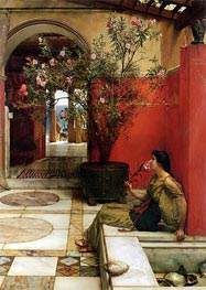 An Oleander, 1882 by Alma-Tadema | Painting Reproduction