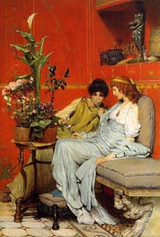 Confidences, 1869 by Alma-Tadema | Painting Reproduction