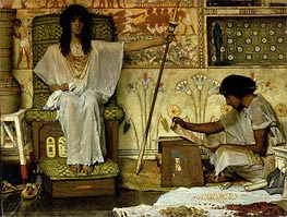 Joseph, Overseer of Pharaoh's Granaries, 1874 by Alma-Tadema | Painting Reproduction