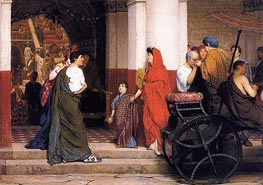 Entrance to a Roman Theater, 1866 by Alma-Tadema | Painting Reproduction