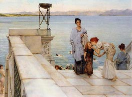 The Kiss, 1891 by Alma-Tadema | Painting Reproduction