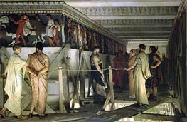 Pheidias and the Frieze of the Parthenon, Athens, 1868 by Alma-Tadema | Painting Reproduction
