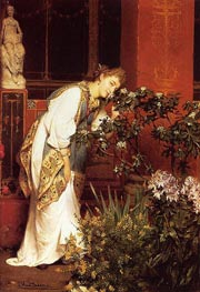 In the Peristyle, 1866 by Alma-Tadema | Painting Reproduction