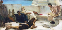 A Reading from Homer, 1885 by Alma-Tadema | Painting Reproduction