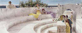 Under the Roof of Blue Ionian Weather, 1901 by Alma-Tadema | Painting Reproduction