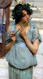 The Fluted Girl, Detail from Spring, 1894 von Alma-Tadema | Gemälde-Reproduktion