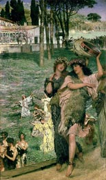 On the Road to the Temple of Ceres: A Spring Festival, 1879 von Alma-Tadema | Gemälde-Reproduktion