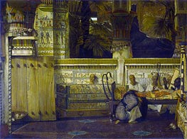 The Egypt Widow in the Time of Diocletian, 1872 von Alma-Tadema | Gemälde-Reproduktion