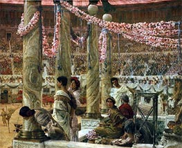 Caracalla and Geta, 1907 by Alma-Tadema | Painting Reproduction