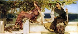 The Conversion of Paula by Saint Jerome, 1898 von Alma-Tadema | Gemälde-Reproduktion