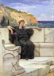 Resting (Daydreaming), 1882 by Alma-Tadema | Painting Reproduction