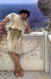 The Poet Gallus Dreaming, 1892 von Alma-Tadema | Gemälde-Reproduktion