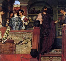 Hadrian Visiting a Romano-British Pottery, 1884 by Alma-Tadema | Painting Reproduction