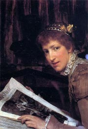 Interrupted, 1880 by Alma-Tadema | Painting Reproduction