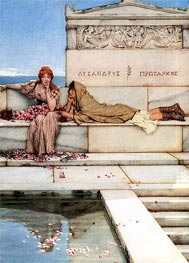Xanthe and Phaon, 1883 by Alma-Tadema | Painting Reproduction