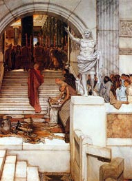 After the Audience, 1879 by Alma-Tadema | Painting Reproduction