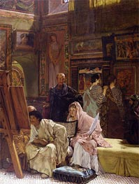 The Picture Gallery, 1874 by Alma-Tadema | Painting Reproduction