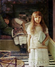 This is our Corner (Portrait of Anna and Laurense Alma-Tadema), 1873 by Alma-Tadema | Painting Reproduction