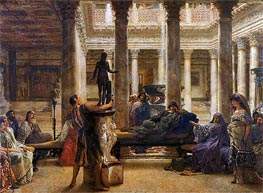 A Roman Art Lover, 1870 by Alma-Tadema | Painting Reproduction
