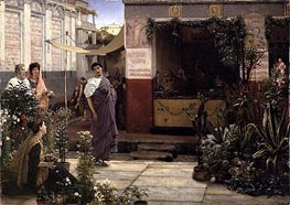 A Roman Flower Market, 1868 by Alma-Tadema | Painting Reproduction