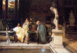 A Roman Art Lover, 1868 by Alma-Tadema | Painting Reproduction