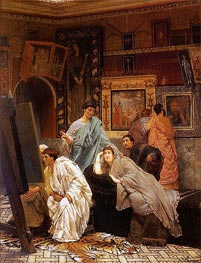 A Collector of Pictures at the Time of Augustus, 1867 by Alma-Tadema | Painting Reproduction