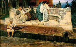 An Exedra, 1869 by Alma-Tadema | Painting Reproduction