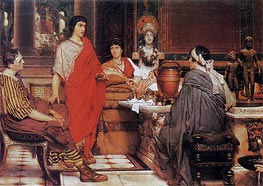 Catullus at Lesbia's, 1865 by Alma-Tadema | Painting Reproduction