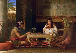 Egyptian Chess Players, 1865 by Alma-Tadema | Painting Reproduction